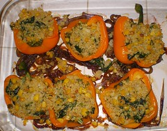 Peppers STuffed w/ Quinoa & spinach