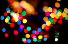 Are we human, or are we dancing bokeh balls of light? photo by Kirpernicus