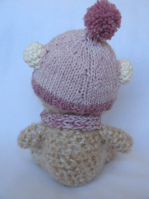 Hummer - Hand Crocheted Alpaca Teddy Bear on a Mission: Alpaca