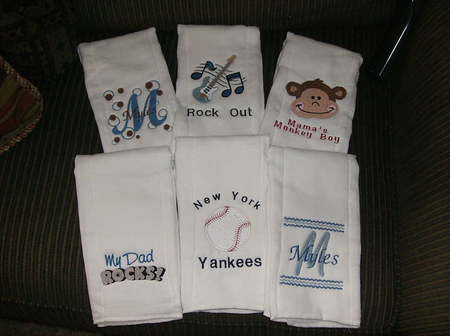 BabyBurps.com | Personalized Burp Cloths, Chenille Baby Blankets