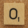 Wood Scrabble Tile O