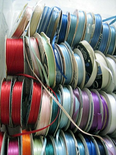 Ribbon stash