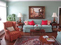 Living Room with Vintage and New photo by PoshSurfside.com
