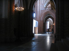 Roskilde cathedral interior, Denmark