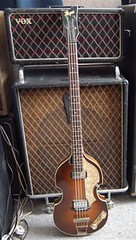 1964 Hofner Violin bass with Vox Ac-50 amp photo by graguitar