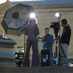 CNN Crew Getting Ready
