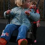 Rachel pushing me<br/>18 Jan 2009
