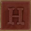 Stamp letter H
