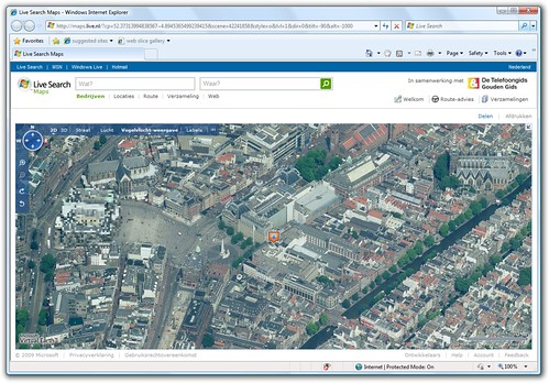 Bird's Eye Imagery for Amsterdam in Live Search Maps