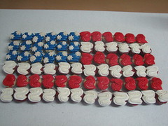 Flag Cupcake Cake photo by sugarcrushmiami