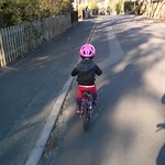 Amy riding on the road<br/>09 Mar 2014