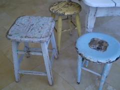 Shabby Stools Collections photo by Marcela Cavaglieri