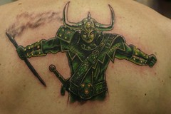 Loki Tattoo photo by Flaming Art Tattoo