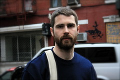 JARED BUCKHIESTER ON ELIZABETH ST.,NYC, 1 APRIL 2008 #2 photo by louisbickett