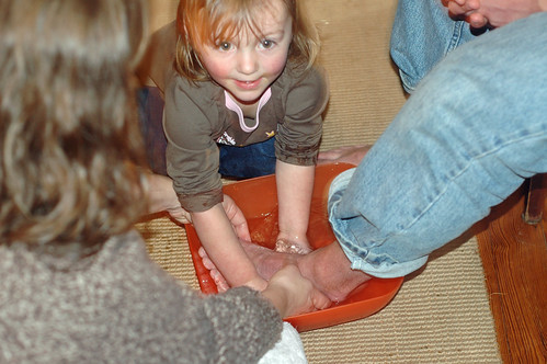 holy week - foot washing