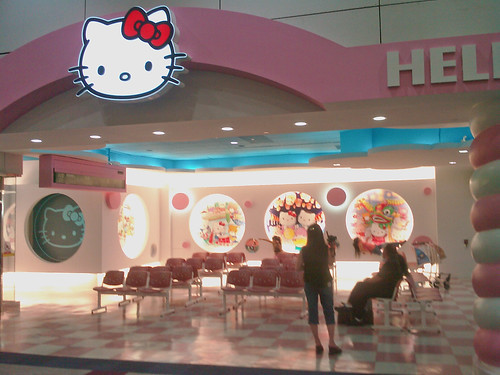 Hello Kitty gate in Taipei Airport