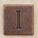 Copper Square Letter I