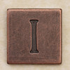 Copper Square Letter I