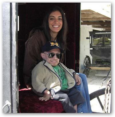 Ranae Shrider with Verne Troyer