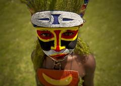 Papua New Guinea kid photo by Eric Lafforgue