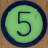 Colour Bingo green number 5
