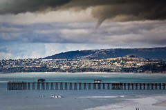 Funnel Cloud Over Dana Point photo by Khristian Snyder