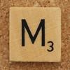 Wood Scrabble Tile M