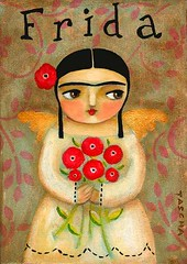 Frida with poppies 2008