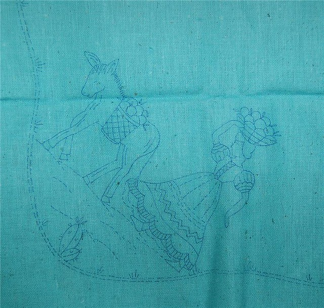STAMPED EMBROIDERY TABLECLOTHS