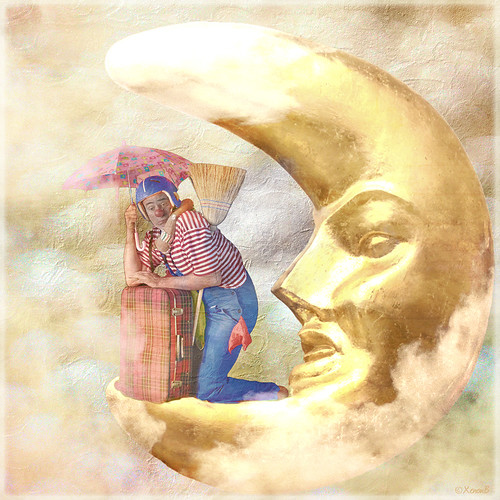 the clown in the moon