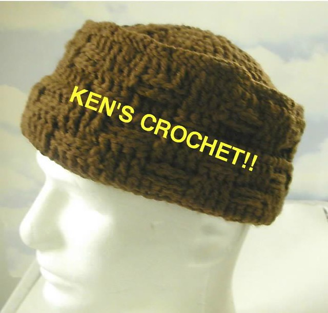 Free Crochet Pattern Kufi Beanie Hat - Crocheting Patterns, Knit