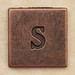 Copper Square Letter s