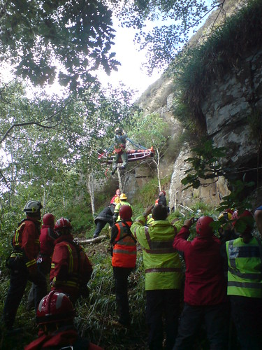 Winching the casualty