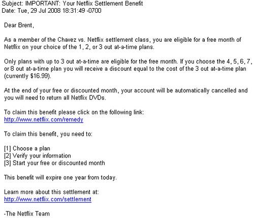 Netflix Settlement