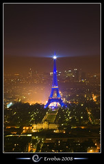 Eiffel tower at night, seen from Tour Montparnasse :: Long Exposure photo by Erroba