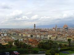Firenze dal Duomo a Ponte Vecchio visti dal Piazzale Michelangelo