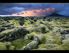 Lava Fields on Fire photo by orvaratli