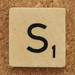Wood Scrabble Tile S