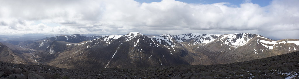 View from Ben Macdui looking west