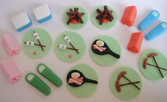 Camping Cupcake Toppers photo by small town girl bakery