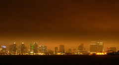 san diego with fog