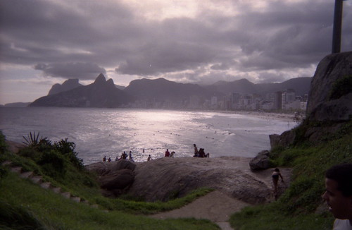ipanema in clouds and sun