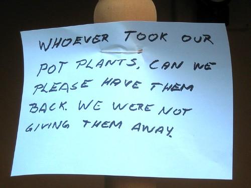 Potplant sign
