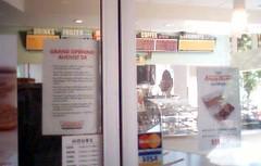 Krispy Kreme store closeup