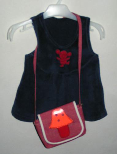 Min första väska + klänning.