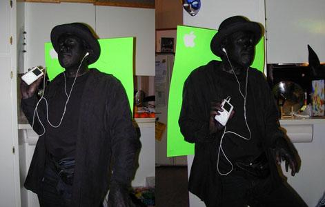 Disfraz de anuncio de iPod
