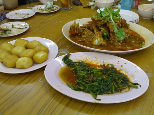 Chili Crab and Sambal Kangkong