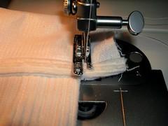 cuff end sewn