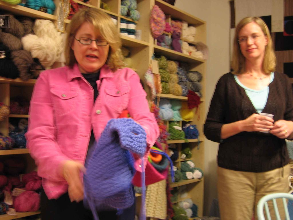 Kay explains felted boxes