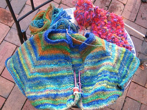 colorful knits